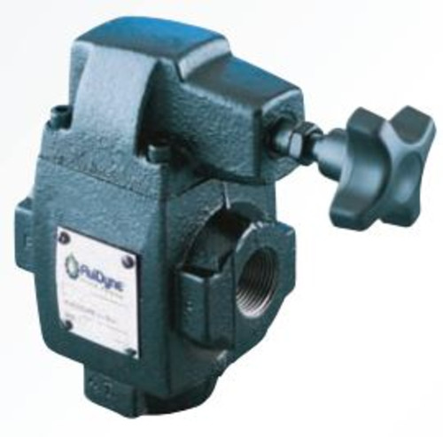 FLUIDYNE BALANCED PISTON RELIEF VALVE: 1500-3000 PSI ADJ.RELIEF, 60 US GPM GPM