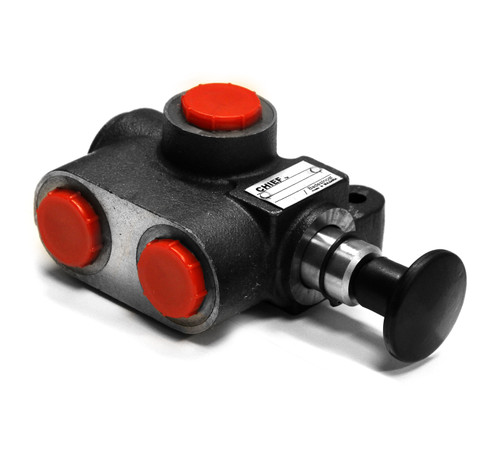 CHIEF TWO-POSITION SELECTOR VALVES (SV SERIES): 20 GPM, HANDLE, SAE 8 PORT SIZE, 3000 PSI